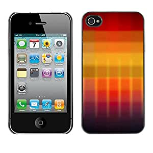 "For Apple iPhone 4 / 4S , S-type Gradiente de colores"" - Arte & diseño plástico duro Fundas Cover Cubre Hard Case Cover"