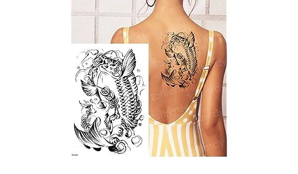 3ps-Lion tattoo animal tiger dragon tattoo big body tattoo sticker ...