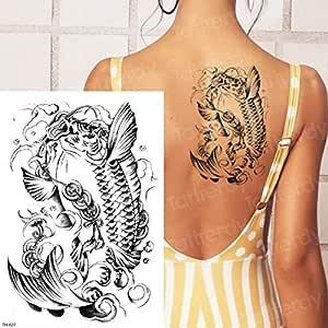 3pcsFemale Espalda Brazo Manga Tatuaje diseño escorpión Cuerpo ...