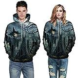 Men Women Mode 3D Print Autumn Warmer Long Sleeve Halloween Couples Hoodies Top Blouse Shirts Sweatshirt (M, Gray)