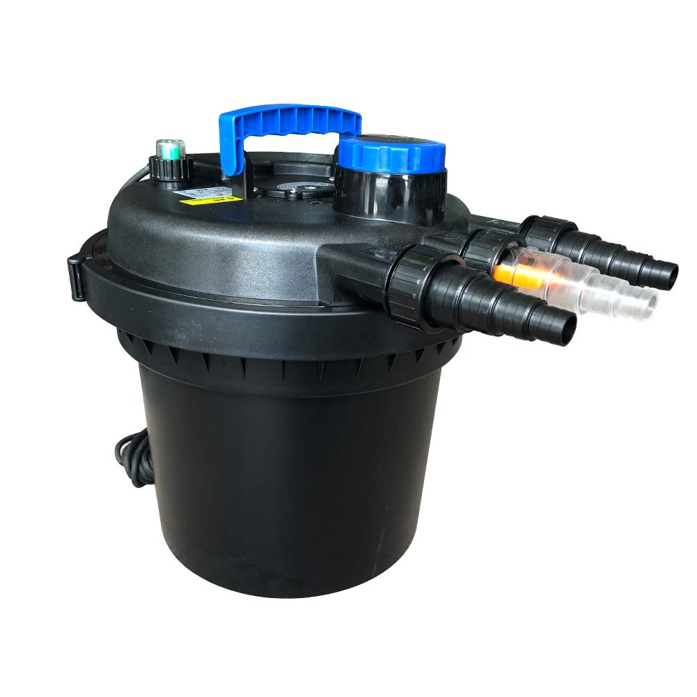 Polar Aurora Pond Pressure Bio Filter 13W UV Sterilizer Light 9000L Koi Water