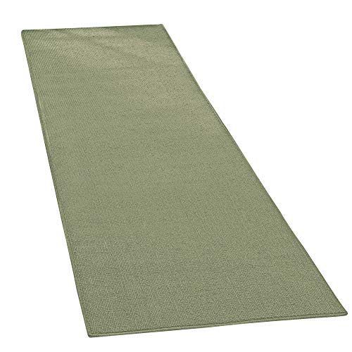 Collections Etc Extra-Wide and Extra-Long Skid-Resistant Floor Runner Rug for High-Traffic Flooring Areas, Including Entryways, Hallways, Foyers and Kitchens, Sage, 28