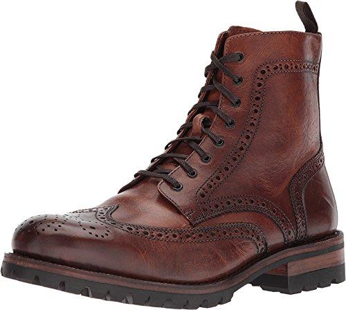 FRYE 84128 Men's George Lug Brogue Lace up, Saddle - 9.5-M