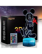 Mickey Mouse B 3D Glow LED Nachtlampje Inspiratie 16 Kleuren Optische Illusie Lamp Touch Sensor voor Thuis Party Festival Decor Geweldig Gift Idee