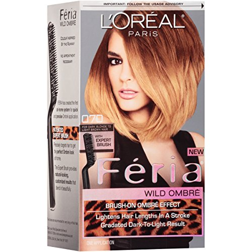 Feria Brush-on Ombre Effect Hair Color, O70 Wild Ombre for Dark Blonde to Light Brown Hair (Packaging May Vary)
