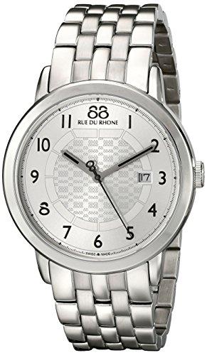 88-Rue-du-Rhone-Mens-87WA140036-Double-8-Origin-Analog-Display-Swiss-Quartz-Silver-Watch
