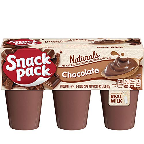 (Snack Pack Chocolate Naturals Pudding Cups, 6 Count, 8 Pack )