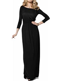 f01500496890 Zago Womens Elegant Lace Long Sleeve Cocktail Maxi A-Line Dress at ...
