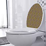 Bathroom Toilet seat Sticker Decal Violet Flowers