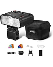 Godox MF12 Macro Flash, 2.4 GHz Wireless Control, 0.01 to 1.7s Recycling Time, 3.7V/6.29W Lithium Battery, Compatible with Nikon Sony Canon Fuji Olympus and Panasonic, W/Modeling Light