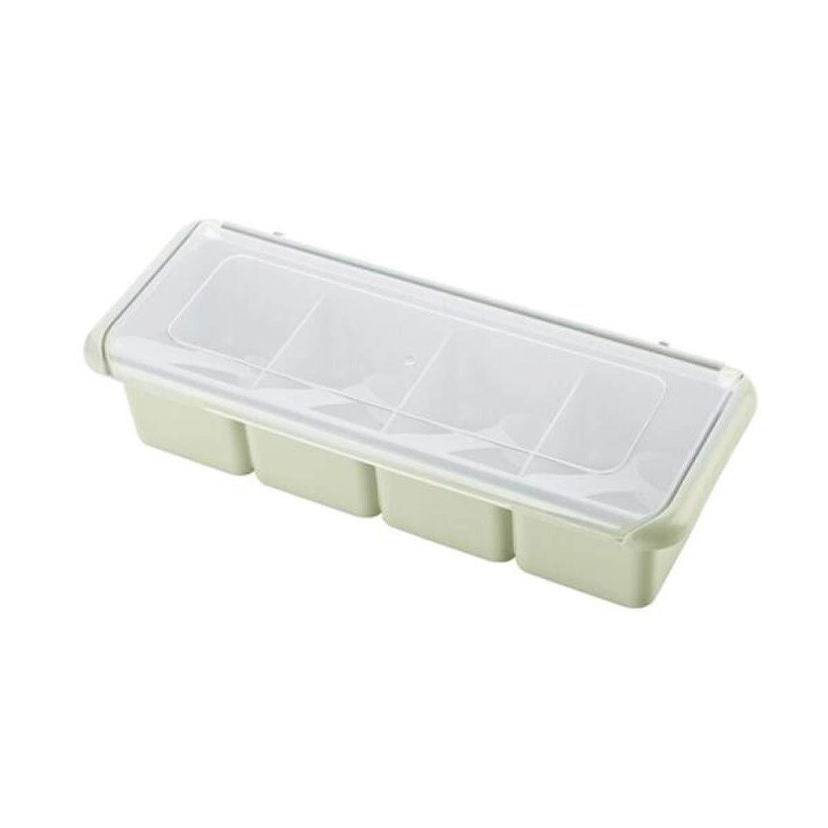 MINGRUIGONGMAO Four Seasoning Box Seasoning Jar, Kitchen Seasoning Jar Seasoning Box Plush toys (Color : Green, Size : 4) by MINGRUIGONGMAO
