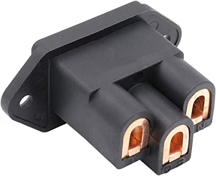 Lot of 2pcs Black 3 Pins IEC320 C14 Inlet Power Plug Socket AC 250V 10A