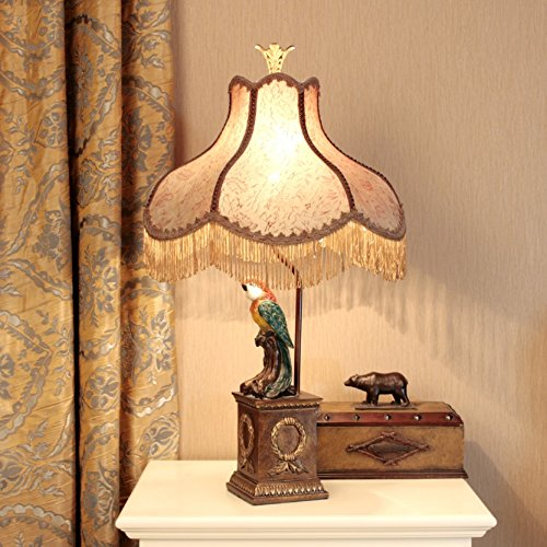 HH European Style Desk Lamp Neo-classical Study Bedroom Bedside Living Room Decoration Table Lamp by FJB (Image #2)