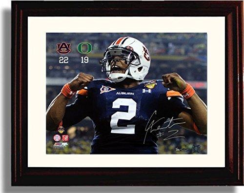 Framed Auburn Tigers Cam Newton BCS Championship Scorecard Autograph Replica Print