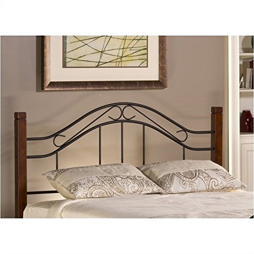 (Hawthorne Collections King Spindle Headboard in Cherry and Black)