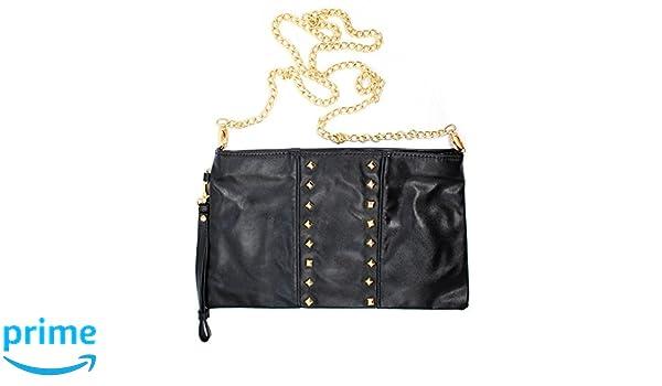 La Sera by Franchi Womens Metallic Studded Clutch Purse, Black: Handbags: Amazon.com
