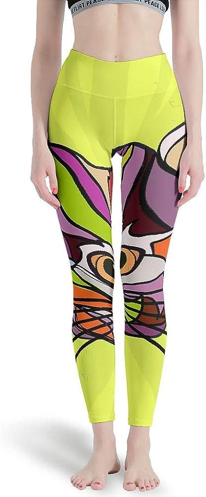 Gamoii - Leggings Deportivos para Mujer, Multicolor, diseño de Cara de Animales, Gato, Pantalones de Deporte, Pantalones de Yoga, Cintura Alta, Leggins atléticos, Pantalones Blanco M: Amazon.es: Ropa y accesorios