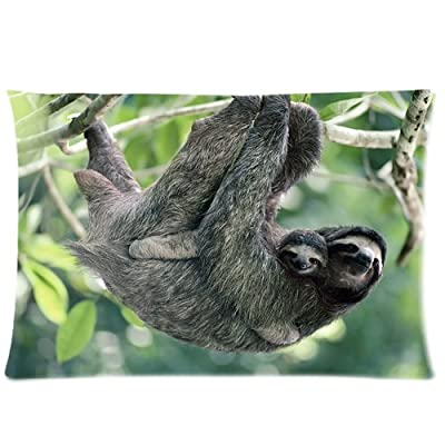Three Toed Sloth And Baby Pillowcases Custom Pillow Case Cushion Cover 20 X 30 Inch Two Sides - The Classic Pillow Case