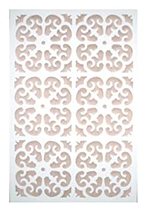Amazon.com : Acurio Roman White Vinyl Lattice Decorative ...