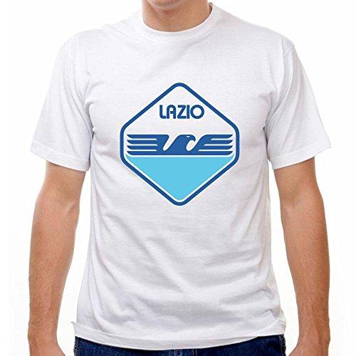 Lazio Soccer Team - Lazio 80's Crest Soccer T-shirt, White, Medium