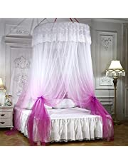 Mengersi Mosquito Netting Canopy Star Led Lights Twin Full Queen/King Size Bed. Princess Girl Boy Bed