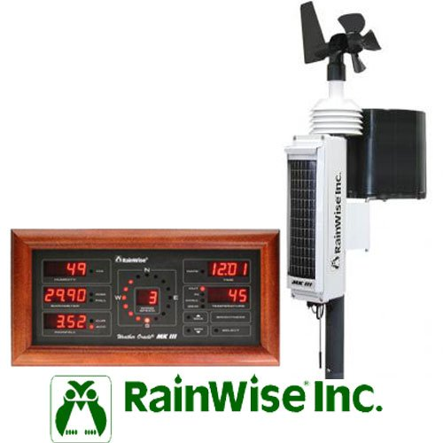RainWise MK-III-RTI Solar Powered Wireless Pro Weather Station w/ Cherry Base Unit