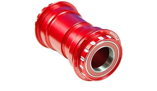 Wheels Manufacturing Ruedas fabricación PF30 para fueraborda de pedalier con Shimano Compatible para rodamientos de cerámica, Color Rojo: Amazon.es: ...