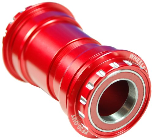 Wheels Manufacturing PF30 to Outboard Bottom Bracket with Shimano Compatible for Ceramic Bearings, Red