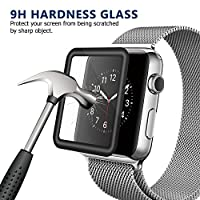 Bestfy 3D Full Coverage Screen Protector for 42mm Apple Watch, Tempered Glass, Anti-Scratch, Bubble-Free for iWatch 42mm with Series 1/ 2/ 3 (1Piece in Pack) from Bestfy
