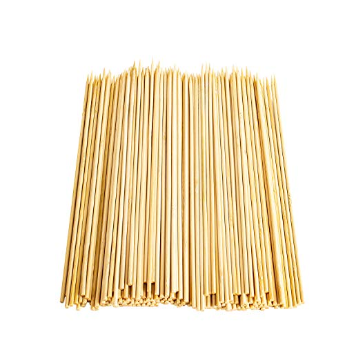 bright bamboo household 200 Pieces Natural BBQ Bamboo Skewers 10 inch for Shish Kabob, Grill, Appetizer, Fruit, Corn, Chocolate Fountain, Cocktail and More Food eco friendly and healthy (Bamboo Shish Kebab Skewers)