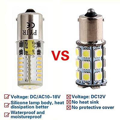 Ba15s 1003 7506 1156 1141 P21W 12V Led Bulbs, Pyjr Single Contact Bayonet Base, 5W Warm White 3000K 500Lm, Water-Resistant Led Bulb, for Rv, Trailer, Campe, Boat, Landscape Bulbs. (Pack of 2): Home Improvement