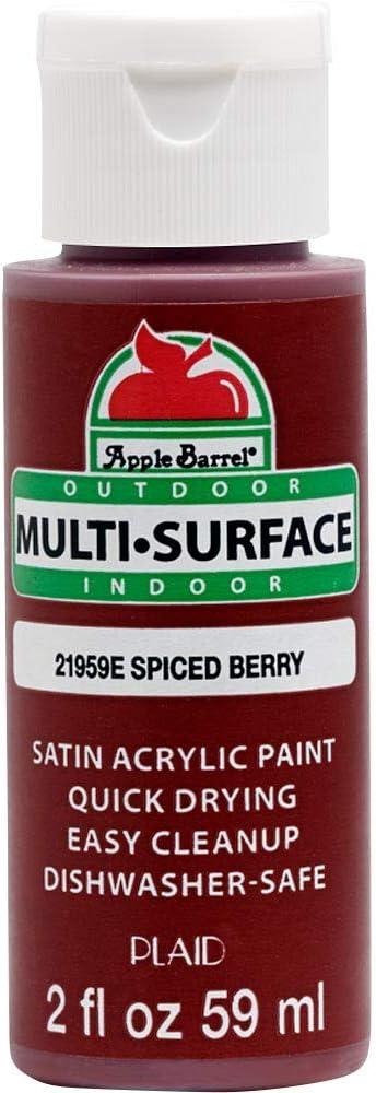 Apple Barrel Multi Surface Acrylic Paint, 2 oz, Spiced Berry 2 Fl Oz,21959E