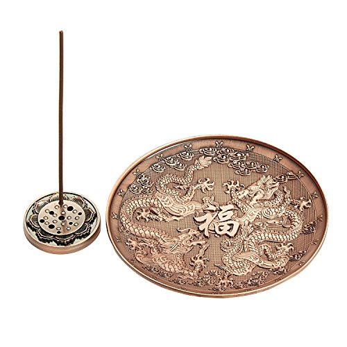 UOON Incense Holder, Dragon Incense Burner, Long Stick Incense Burner and Cone Incense Holder with Ash - Tibetan Burner Incense