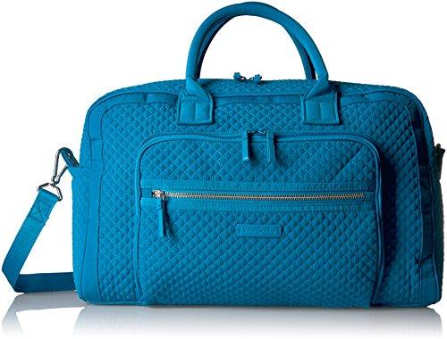 Vera Bradley Women's Iconic Compact Weekender Travel Bag Vera, Bahama Bay by Vera Bradley