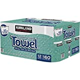 Kirkland Signature Premium Big Roll Paper Towels 12-roll, 160 Sheets Per Roll