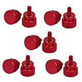 DealMux Computer PC Case 6#-32 Fully Threaded Knurled Thumb Screws Wine Red 10pcs