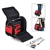 HOMCOM 3in1 Rolling Tool Bag Heavy Duty Portable Storage Organizer Tote