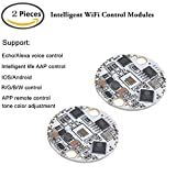 MakerFocus 2pcs Intelligent WiFi Control Module LM33 for Lamps Support Phone APP IOS/Android Remote Control Lighting Dimming Color, Work with Echo, Alexa