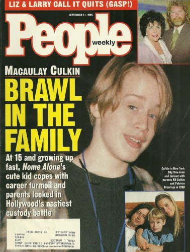 Macaulay Culkin, Elizabeth Taylor and Larry Fortensky, Penny Johnson - September 11, 1995 People Weekly - Oliver Peoples Celebrities