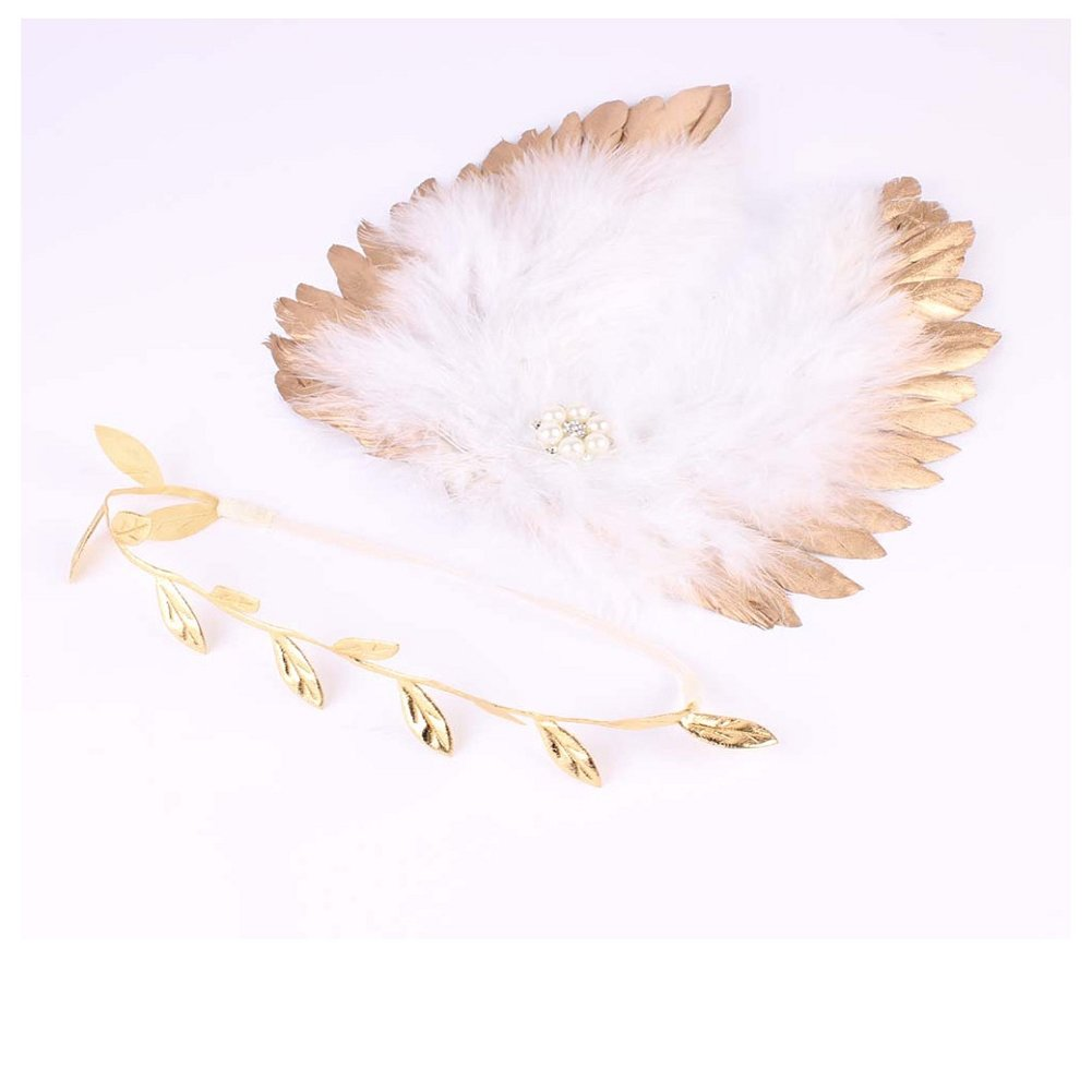 Kocome Newborn Baby Infant Angle Wings Leaves Costume Photo Photography Props Outfits