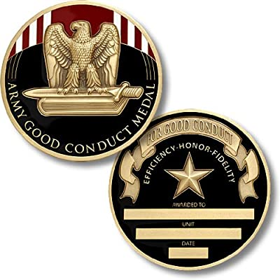 Army Good Conduct Service Medal Coin - Engravable Challenge Coin