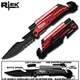 "Best Led Knives - 9"" Tactical Assisted Open Red Survival 7 in Review"