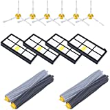 14PCS Accessories for iRobot Roomba 880 860 805 870 871 980 990 960 Replenishment Parts Spare Brushes Kit with 4pcs Hepa filters,6pcs Side Brushes, 2 Pair Debris Extractors
