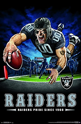 "Trends International Wall Poster Oakland Raiders-End Zone, 22.375"" x 34"""