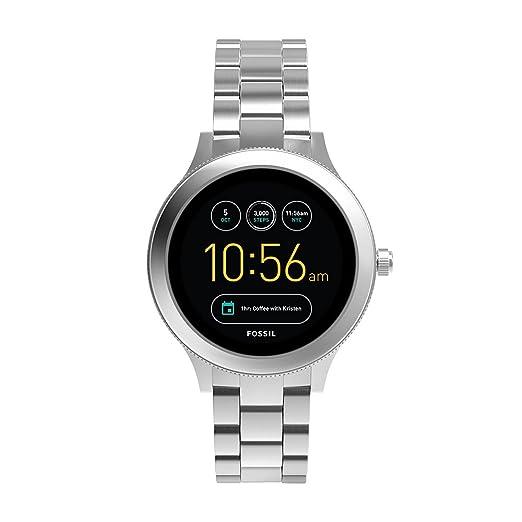 Fossil Q Women's Gen 3 Venture Stainless Steel Smartwatch, Color: Silver-Tone (Model: FTW6003)