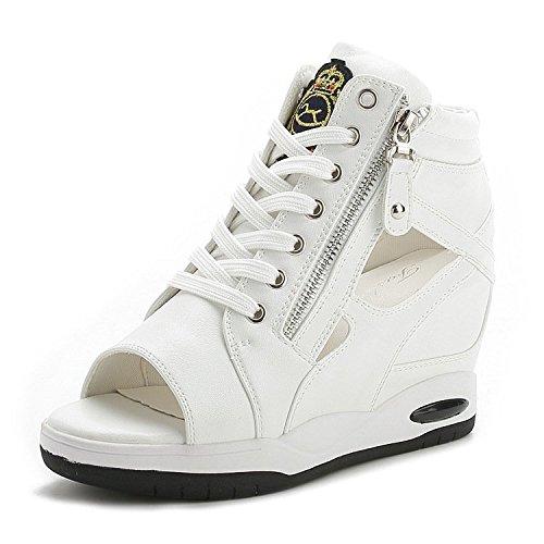 XXM-Shoes sur Fine avec la Sandales Bouche B07HRCFPL1 de Poisson Sandales Sandales Exposed Fermeture Éclair sur Toile Sandales Femelle blanc 39c77a1 - epictionpvp.space