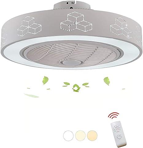 HHCC Ventilador de Techo LED con Ventiladores Redondos Ligeros 3 ...
