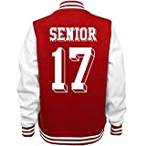Senior 2017 School : Ladies Fleece Letterman Varsity Jacket