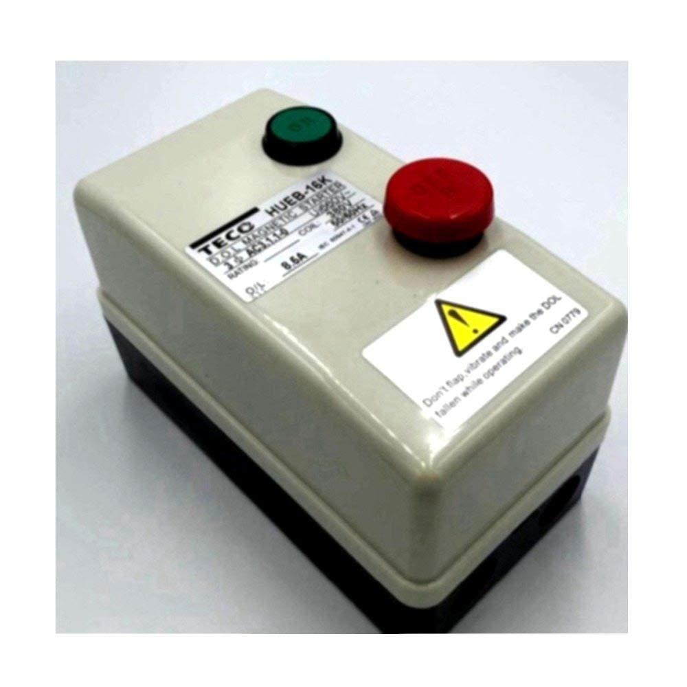 On/Off Switch Non Reversing Type 3 Phase Motor Magnetic Starter 380V AC Coil HUEB-16K