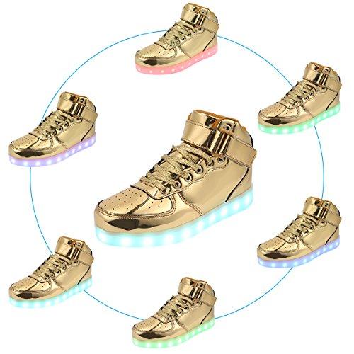 Rechargeables Usb Or Clignotantes Padgene Led Par À Chaussures De Sport Montantes fwAf61